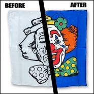 """Шелковый платок 18"""" Грустный/Счастливый Клоун"""